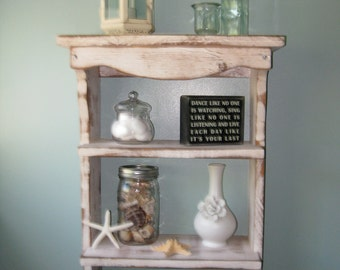 Wood Shelf - Towel Holder - Shabby Country Cottage - French Country - Paris Apartment