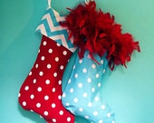 Christmas Stockings in fun colorful designs and style You Design Your Own  stripes polka dots chevron pattern