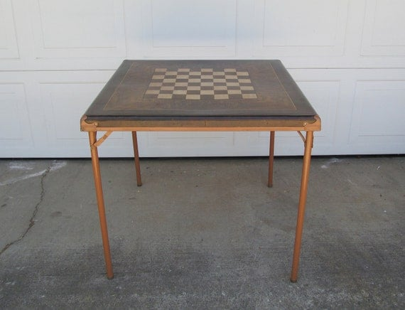 Vintage Mid Century Folding Card Game Table