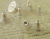 5 pairs Sterling Silver Ear Donuts - Comfort Clutch - Perfect to Stabilize Heavy Post Earrings