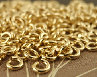 50 Handmade Jump Rings 18 gauge 1.5mm ID - Tiny and Strong in Brass, Bronze, Copper, Nickel Silver or Antique Finishes