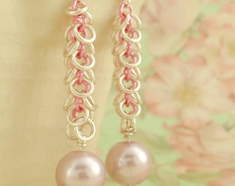 Shaggy Pearls Earring KIT - Easy and Fun for Beginners - Pink or YOU Pick the Colors