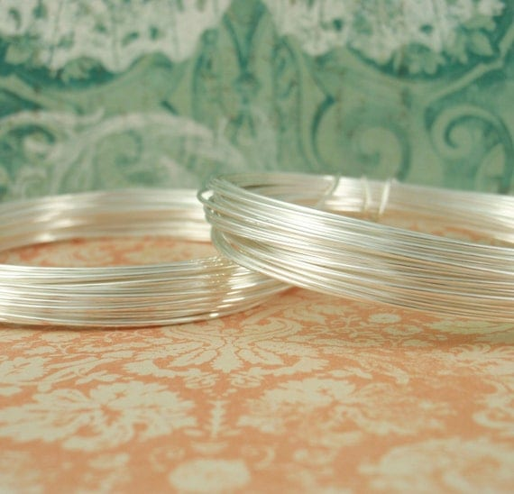 20 gauge FINE SILVER Wire with Copper Core -Half Hard -Tarnish Resistant- 2 coils EACH 19 Feet -Total  39 Ft (12 meters) -100% Guarantee