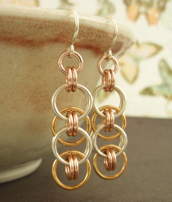 Sweet Success Earrings - Fun, Fast and Easy Chainmaille Kit or Ready Made