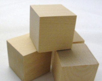 "2 inch wooden cube, 2"" unfinished wooden block, unfinished wood cube, Choose your quantity"