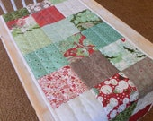 "Christmas Table Runner 14"" x 63""- Hand Quilted - Free Shipping to USA"