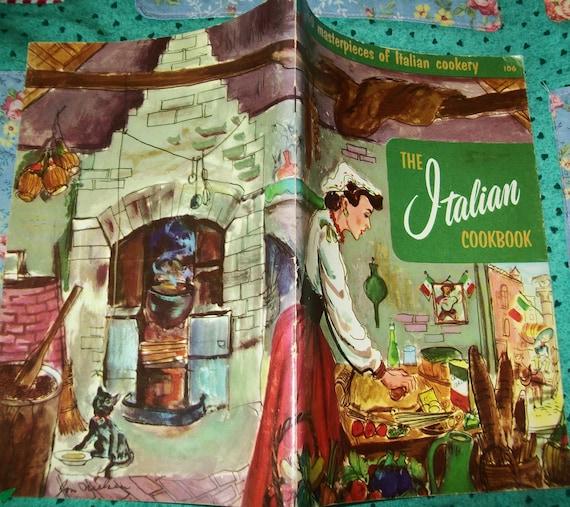 1960s Italian Cookbook, 1965, Culinary Arts Institute, cook book, Italy, Italian, vintage