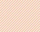 Fabric - Pink & Cream Diagonal Stripe - 1 yard