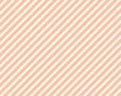 Fabric - Pink & Cream Diagonal Stripe - 1 yard