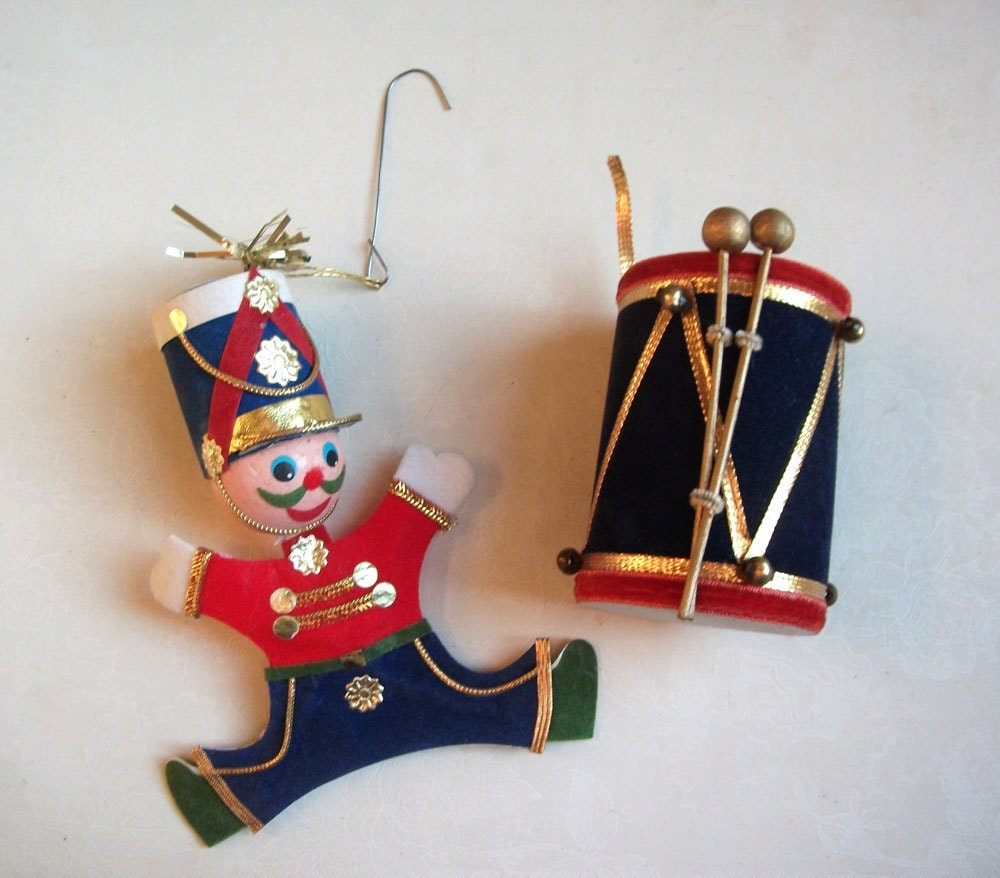 1960 Christmas Toys : S christmas ornament set toy soldier by theuniquebird