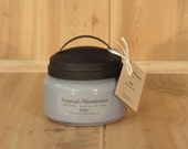 Lilac Scented 10oz Pure Soy Jar Candle with Black Metal Lid