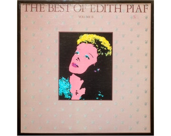 Glittered Vintage Edith Piaf Album