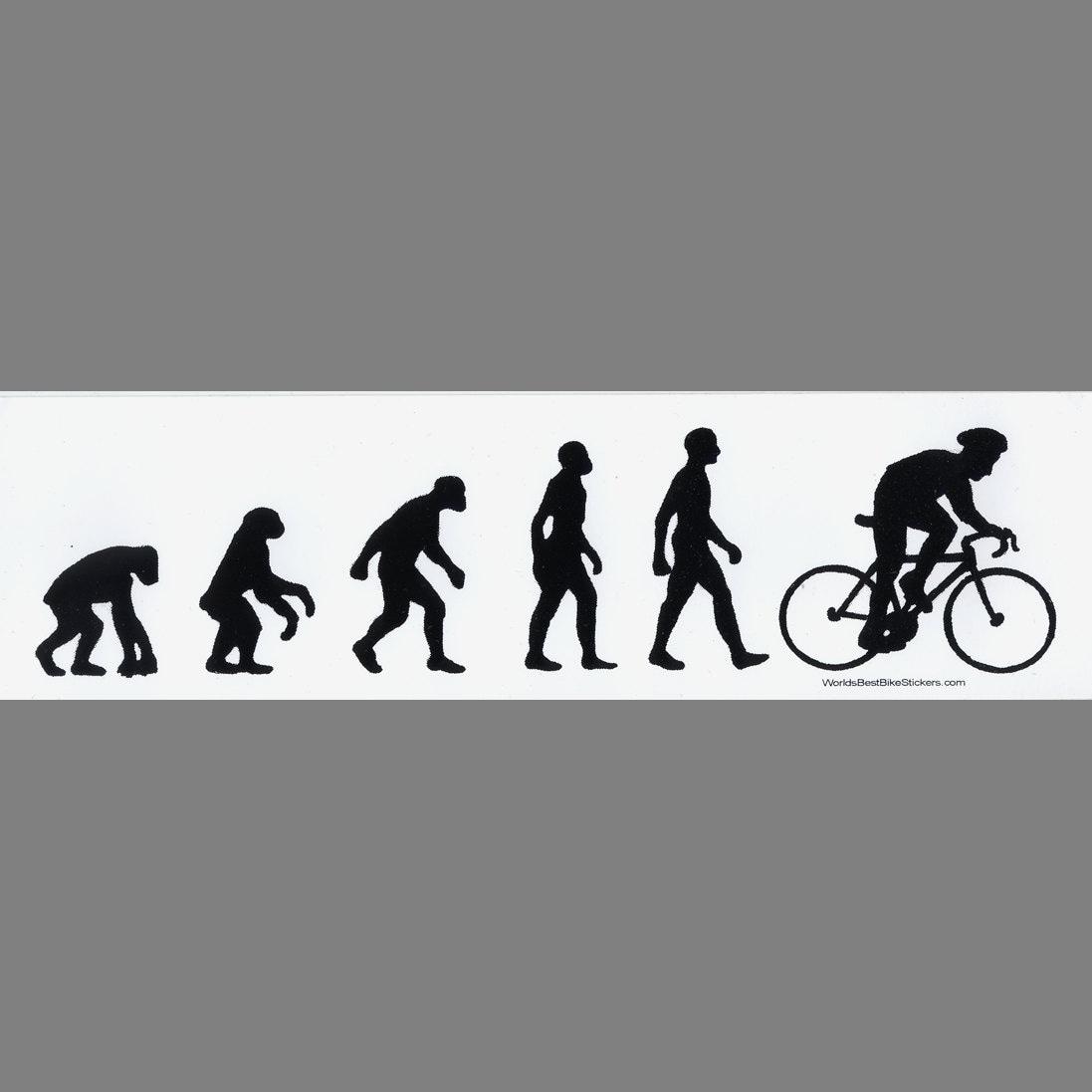 Man Bike Evolution Bumper Sticker
