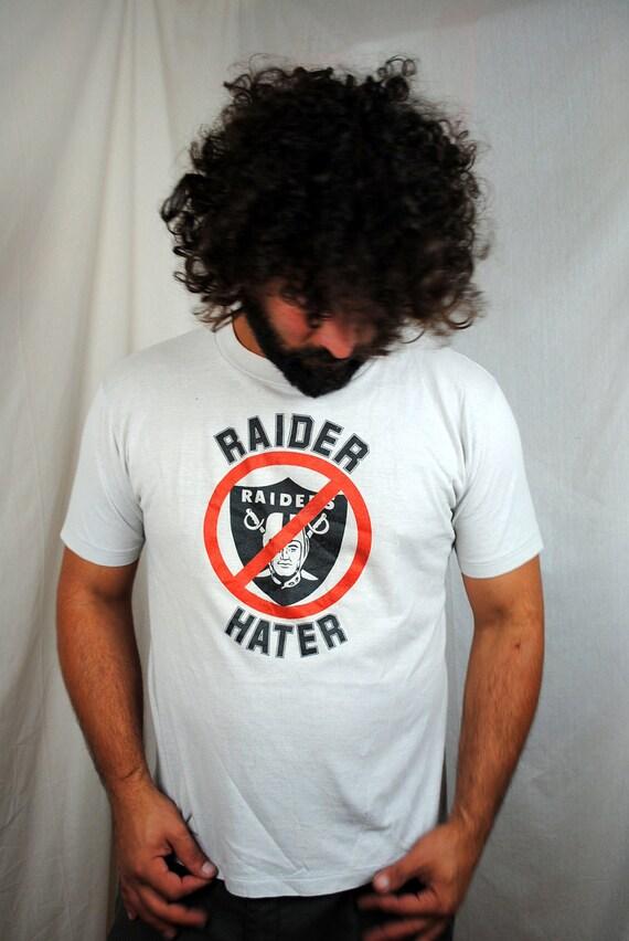 Vintage 80s Seattle Seahawks Raider Hater NFL RARE Tshirt