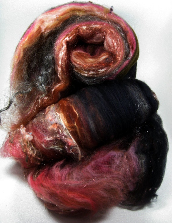 Mystery Wild Card Bling Batts for Spinning and Felting