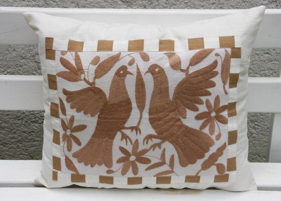 Otomi Folk Piece- Gorgeous Beige Creme Shams Ready to ship