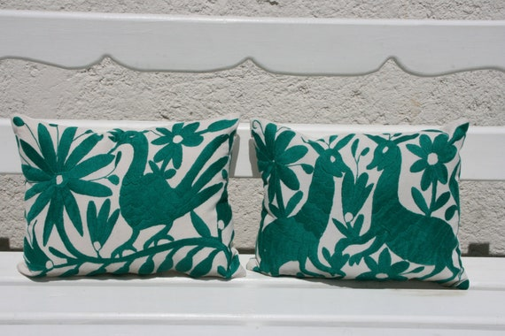 Teal Otomi Pillow Sham Pair-Ready to ship