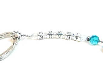 Name Keychain // Personalized Keychain // Mom Keychain // Grandmother Keychain // Rememberance Gift // Gift for Nana Mimi Gigi Nonna