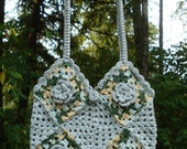 Crochet Pattern PDF - 'Granny Square Flowers' Bag - PA-128b