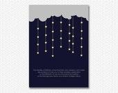 Starlight Invitation - a printable wedding invitation