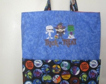 Halloween Trick or Treaters Eco Friendly Tote, Purse, Bag