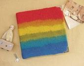 Wedding album, felted wool cover album, in handmade, rainbow
