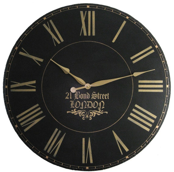 Large Wall Clock 30 Inch London Towne Personalized Antique