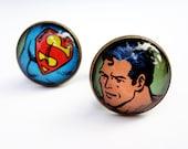 Cuff links, Superman Cufflinks, Comic Book Cufflinks, Husband Gift, Father's Day Gift