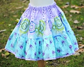 Girl's Ruffled Skirt, Twirly Skirt, Girl Skirts, Purple, Blue, Tiered Skirt, Child, Toddler skirt, size 2 3 4 5 6 7 8
