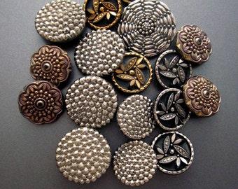 Antique Glass Button Lot Destash