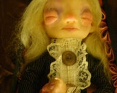 Eva For the love of Kitty postmortem Victorian Art doll By Jenice Grimes