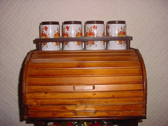 Bread Box with tin containers