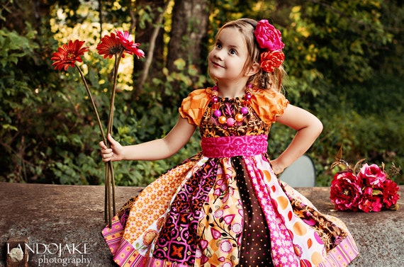 LAST ONE The Autumn Rose dress by Corinna Couture