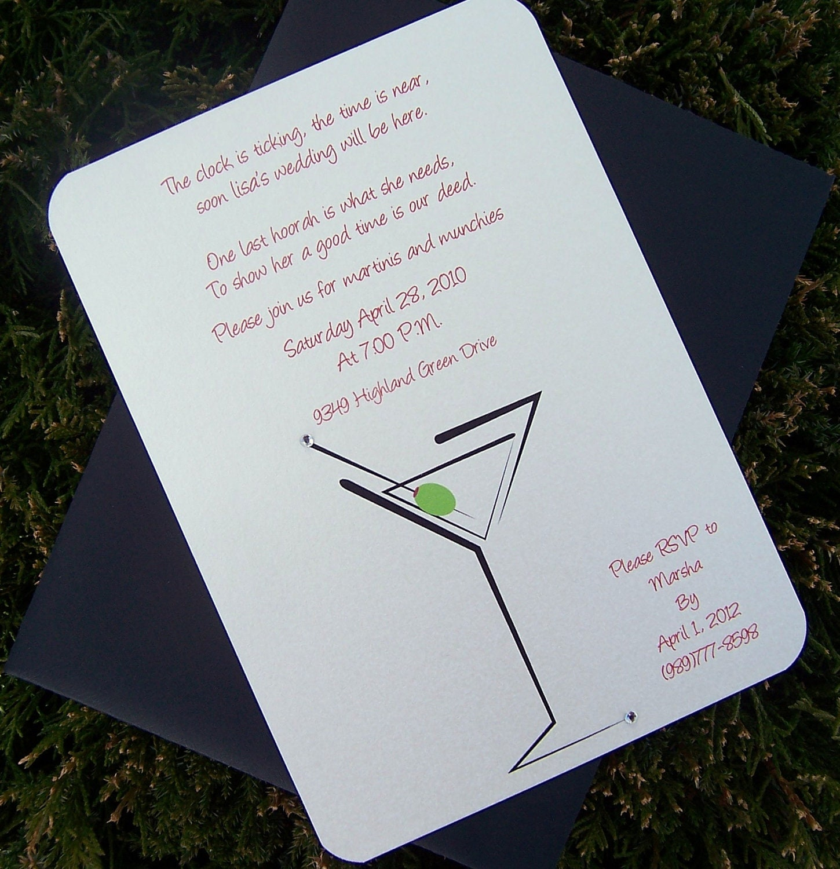 martini invitation party invitation bachelorette invitation happy hour invitation 🔎zoom