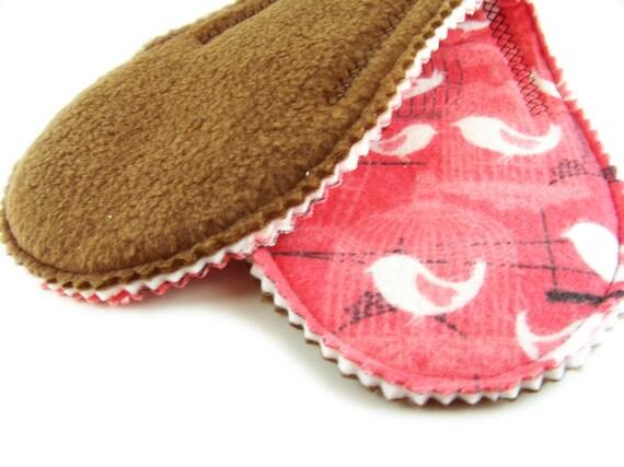 Heavy Absorb Short Peanut Pad in Bird Cage - Reusable Cloth Pad