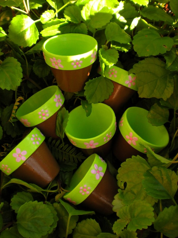 Sample Size Flower Pots for Baby Shower - reserved for Cathy