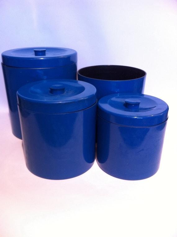 Cobalt Blue Kitchen Canister Set