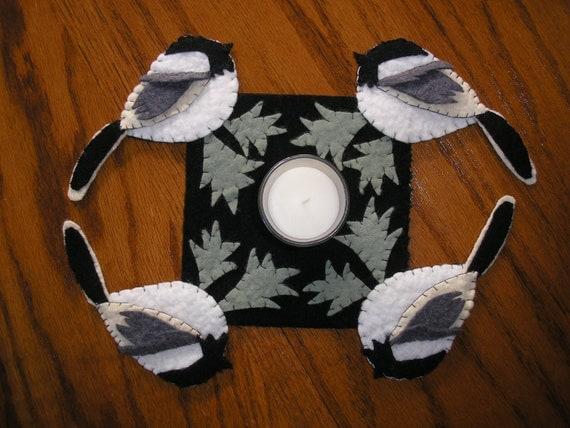 Chickadee Candle Mat