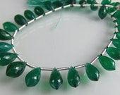 Sale -AAA Green Onyx Chandelier Briolettes AAA  Onyx Gemstone Beads Micro Faceted