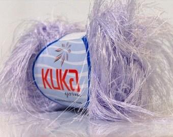 lilac long eyelash ice yarns kuka jungle 50gr 1 skein novelty craft rug yarn baby super soft make photo prop blankets  knitting crochet