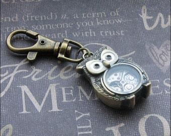 Bronze Owl Keychain - Enchanted Steampunk Owl - Jewelry by TheEnchantedLocket - COOL Unisex Wedding Anniversary Teacher Gift