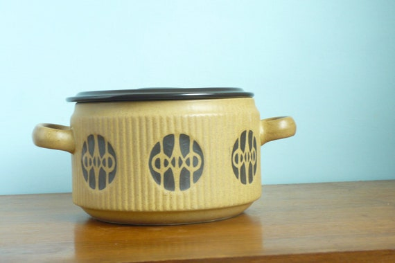 Mid Century Modern Flame and Frost Casserole