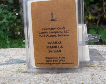 Warm Vanilla Sugar Pure Soy Covington Creek Candle Company  Breakaway Melt.