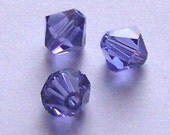 Swarovski Crystal Beads Bicone 5328 Swarvoski elements TANZANITE - Available in 3mm, 4mm, 5mm, 6mm and 8mm