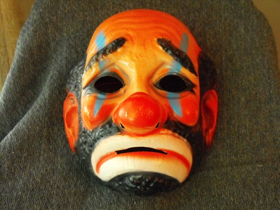 vintage Emmett Kelly  halloween mask