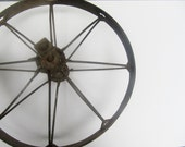 On Reserve-Large Metal Rustic Industrial Wheel with Spokes