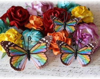 Over the Rainbow Butterfly Die Cut Embellishments for Scrapbooking, Cardmaking, Altered Art, Mixed Media