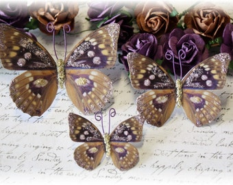Old Vineyard Butterfly Die Cut Embellishments for Scrapbooking, Cardmaking, Tag Art, Mixed Media, Wedding