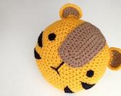 Crochet Tiger Pillow