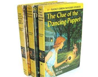 nancy drew mystery stories  ...  vintage book collection  ...  vintage book decor